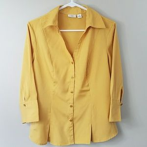 Cato Mustard Yellow Blouse